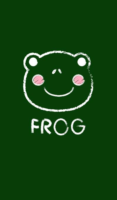 Simple Frog on a Blackboard theme