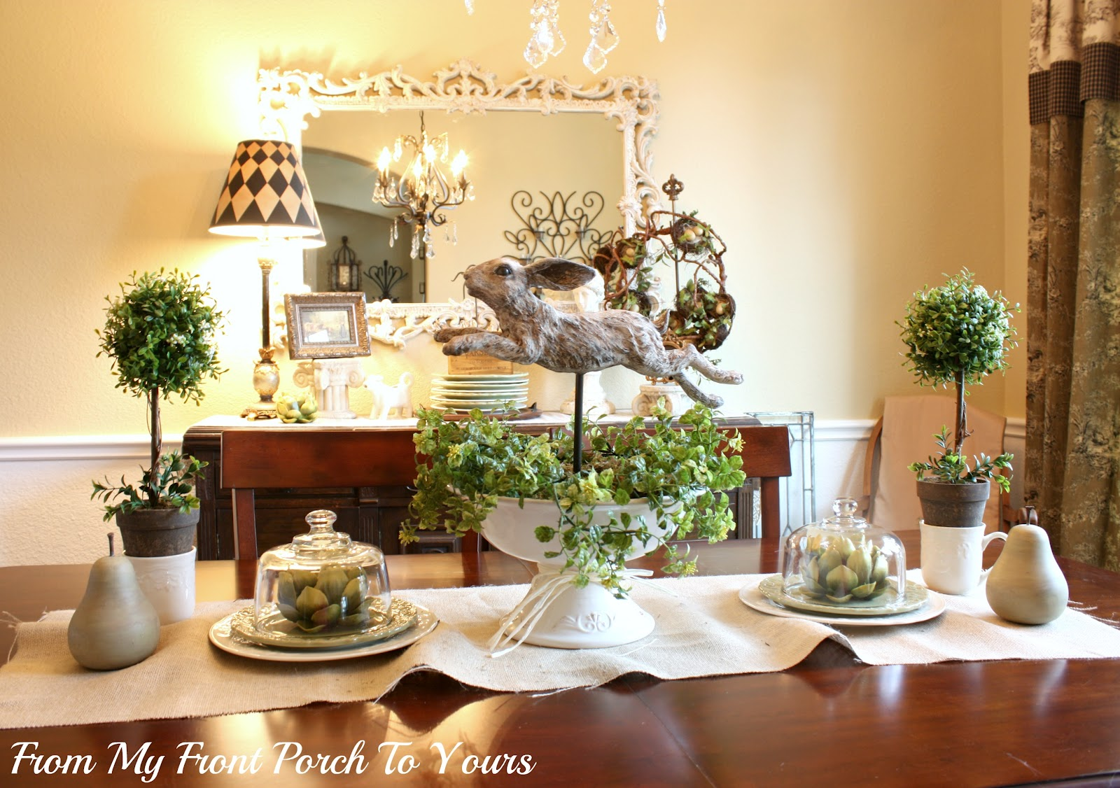 Our Spring Dining Room: From My Front Porch To Yours: Spring Dining Room