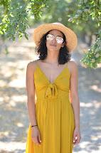 Allergic Vanilla Leith Mustard Yellow Dress