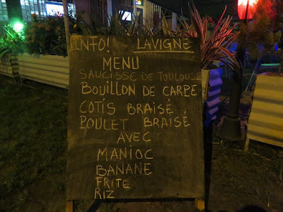 On the menu in Gabon.