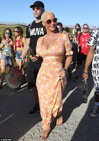1A Photos: Amber Rose steps out in Floral print dress
