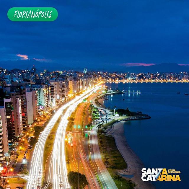 Beira mar norte Florianópolis--Falando de turismo