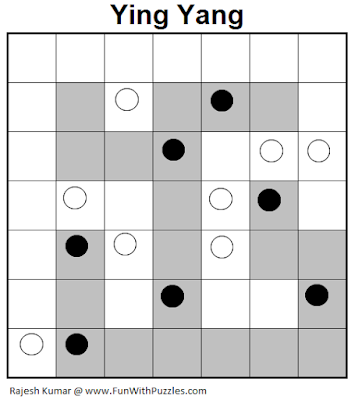 Ying Yang (Logical Puzzles Series #9) Solution
