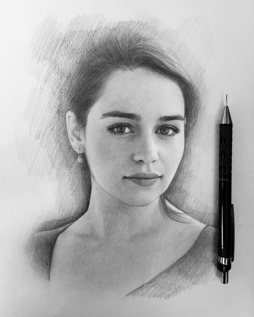01-Emilia-Clarke-Daenerys-Targaryen-Game-of-Thrones-Berikuly-Erkin-Very-Expressive-Realistic-Portraits-www-designstack-co