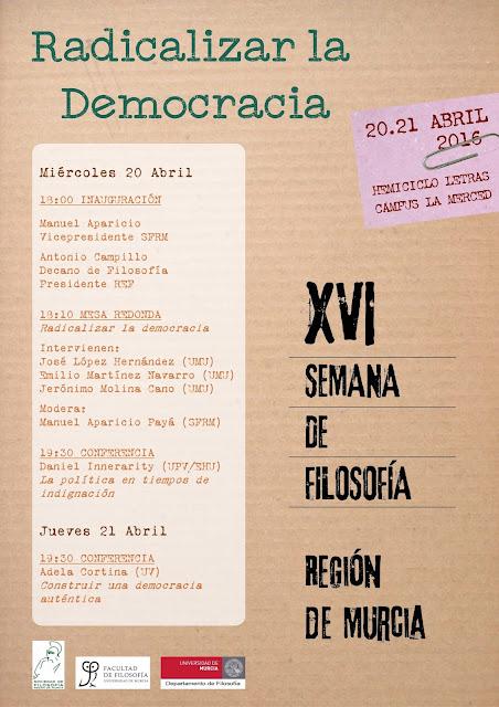 XVI Semana de Filosofía de la Región de Murcia.