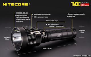 NITECORE TM38 CREE XHP35 HI D4 Monster Flashlight