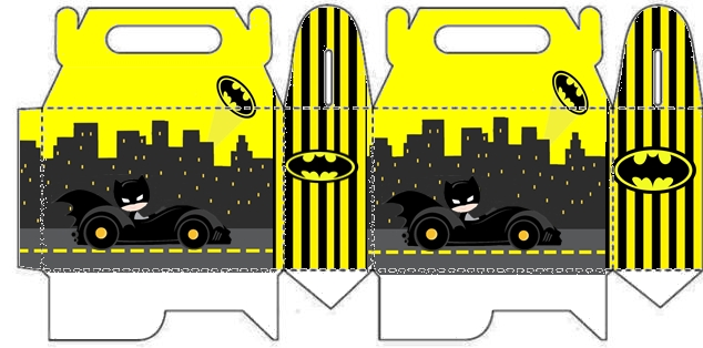 Batman in Black and Yellow, Free Printable Lunch Box,