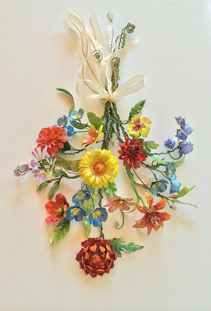 tinworks alternative wedding bouquet