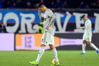 يوفنتوس يخسر من اتالانتا بثلاث اهداف دون مقابل وخرج من دور ربع النهائي من كأس إيطاليا