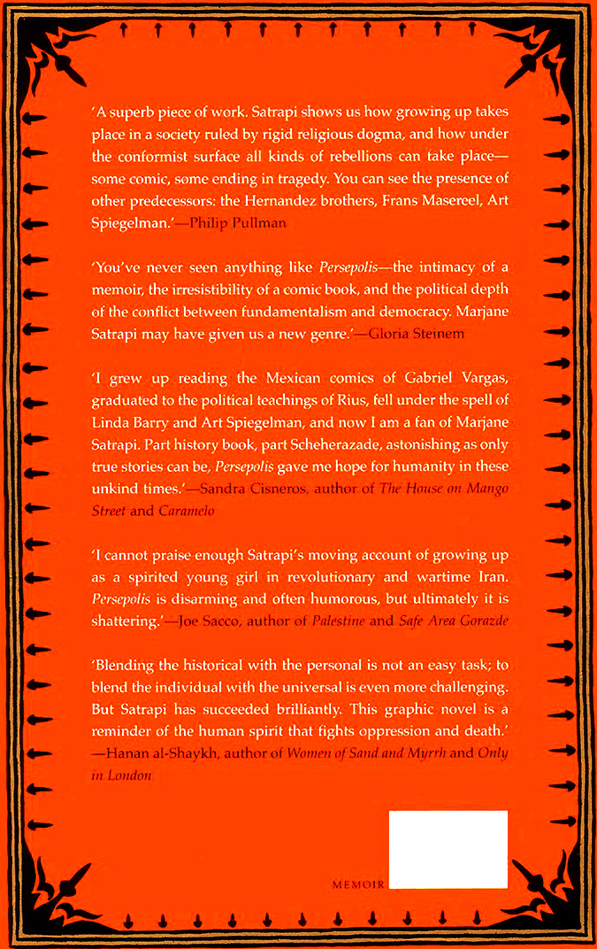 Read Back Cover 2 from Marjane Satrapi's Persepolis 1 - The Story of a Childhood