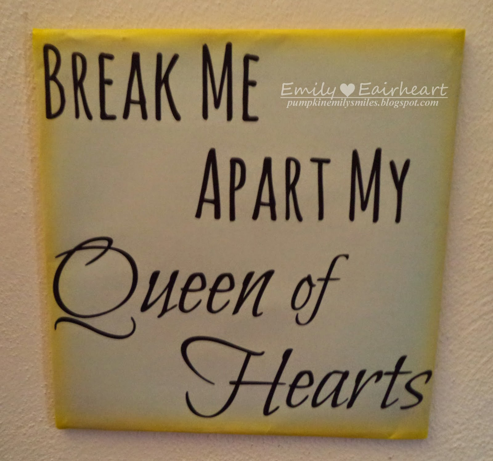 Farewell, My Love Queen of Hearts lyric art, fan art