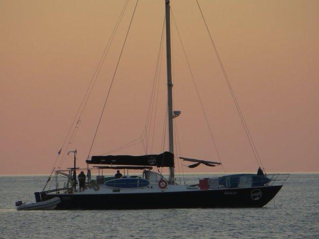 Встреча заката на лодке