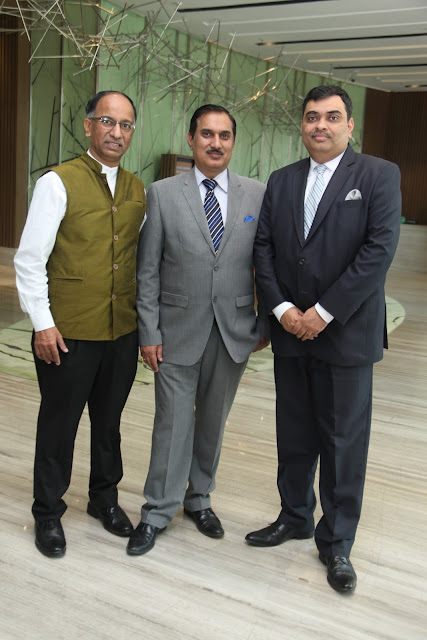 From Left Mr. Raju Lauzado, Mr. Kuldeep Dhawan, Mr. Aman Kidwaai-