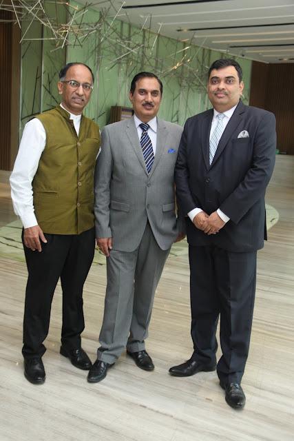 From Left Mr. Raju Lauzado, Mr. Kuldeep Dhawan, Mr. Aman Kidwaai-