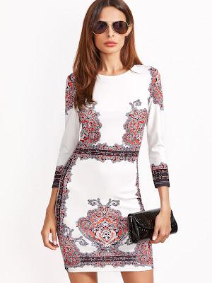 http://es.shein.com/White-Vintage-Print-3-4-Sleeve-Bodycon-Dress-p-329918-cat-1727.html?utm_source=mivida-enblog.blogspot.com.es&utm_medium=blogger&url_from=mivida-enblog