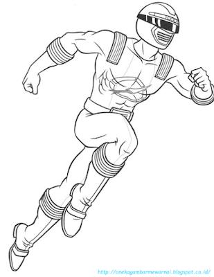 Mewarnai Gambar Power Ranger - 2