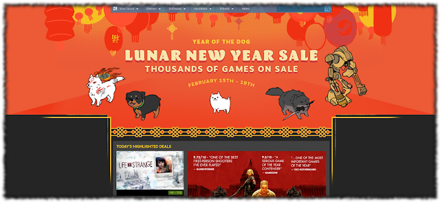 Screencap of Steam's Lunar New Year Sale page