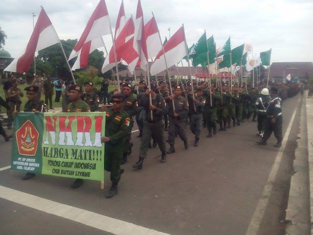 Pasukan Banser dan Ansor ke Jakarta
