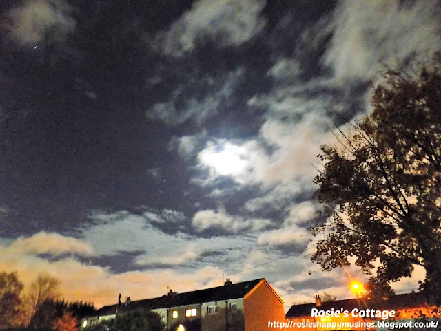 Rapidly moving clouds swept across the skies blocking our view of the supermoon