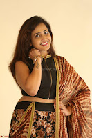 Lasya looks super cute in black choli Saree at Raja Meru Keka Press Meet ~  Exclusive 111.JPG