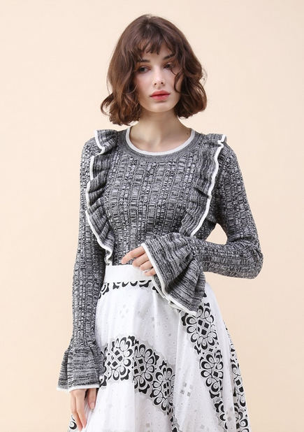 https://www.chicwish.com/posh-attitude-ruffle-knit-top-in-grey.html