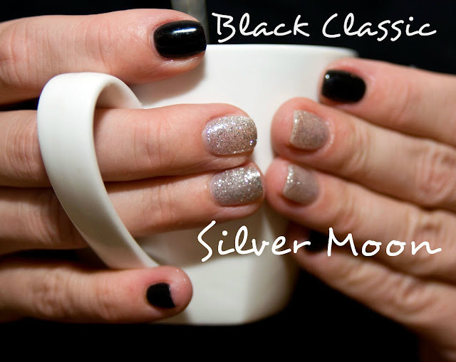 Chiodo srebrny brokat Silver Moon nr 53