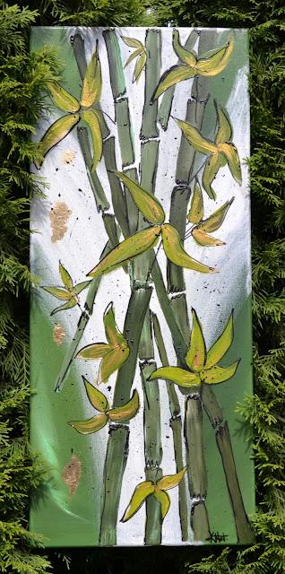 Czasem coś na płótnie i obraz z bambusami