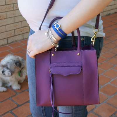 AwayFromTheBlue | Rebecca Minkoff mini MAB tote in plum purple