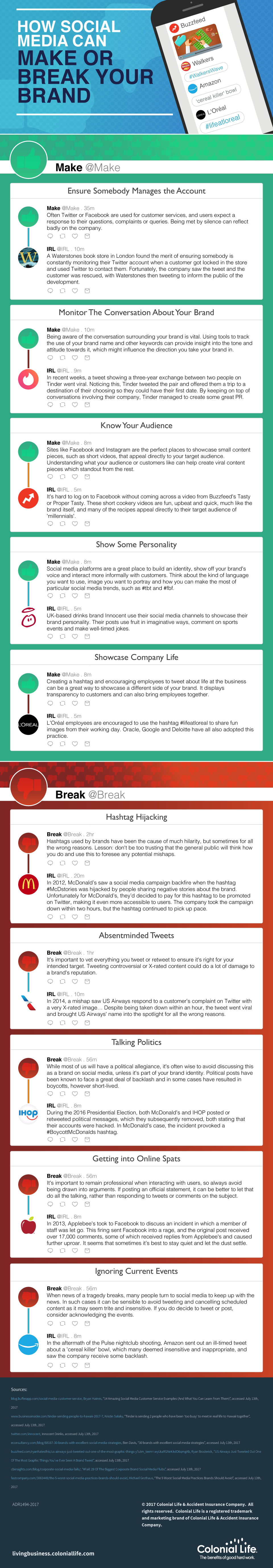 How Social Media Can Make or Break Your Brand [infographic]
