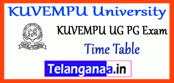 KUVEMPU University UG PG 1st 2nd 3rd Year Exam Time Table