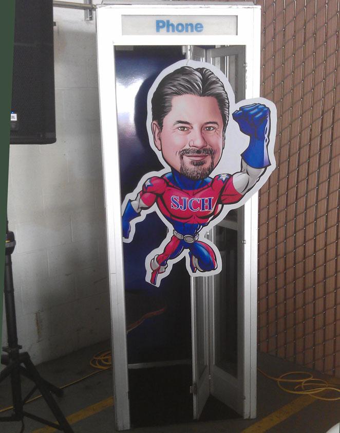 superhero phone booth