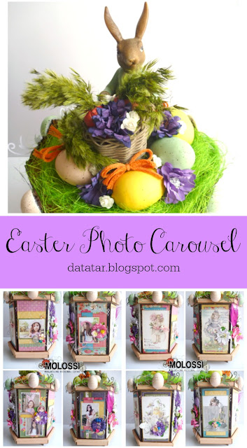Easter Photo Carousel Tutorial by Dana Tatar for Molossi