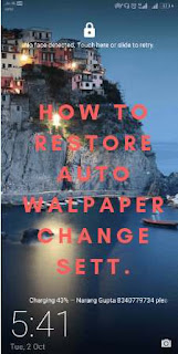 how to restore auto wallpaper change setting honor
