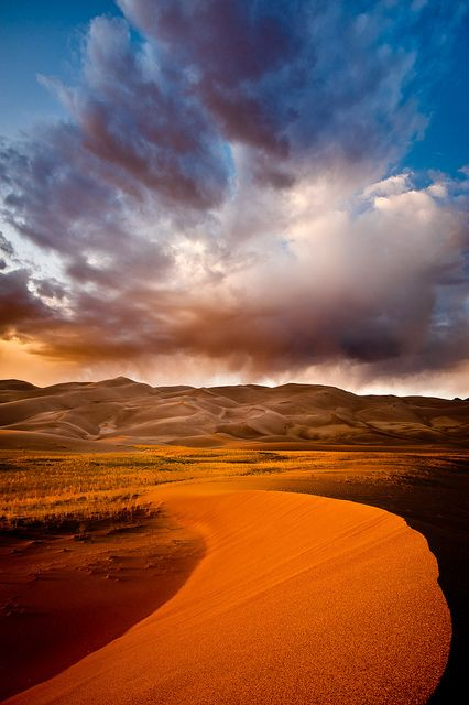 Storm Over the Great Sand Dunes, Colorado, USA