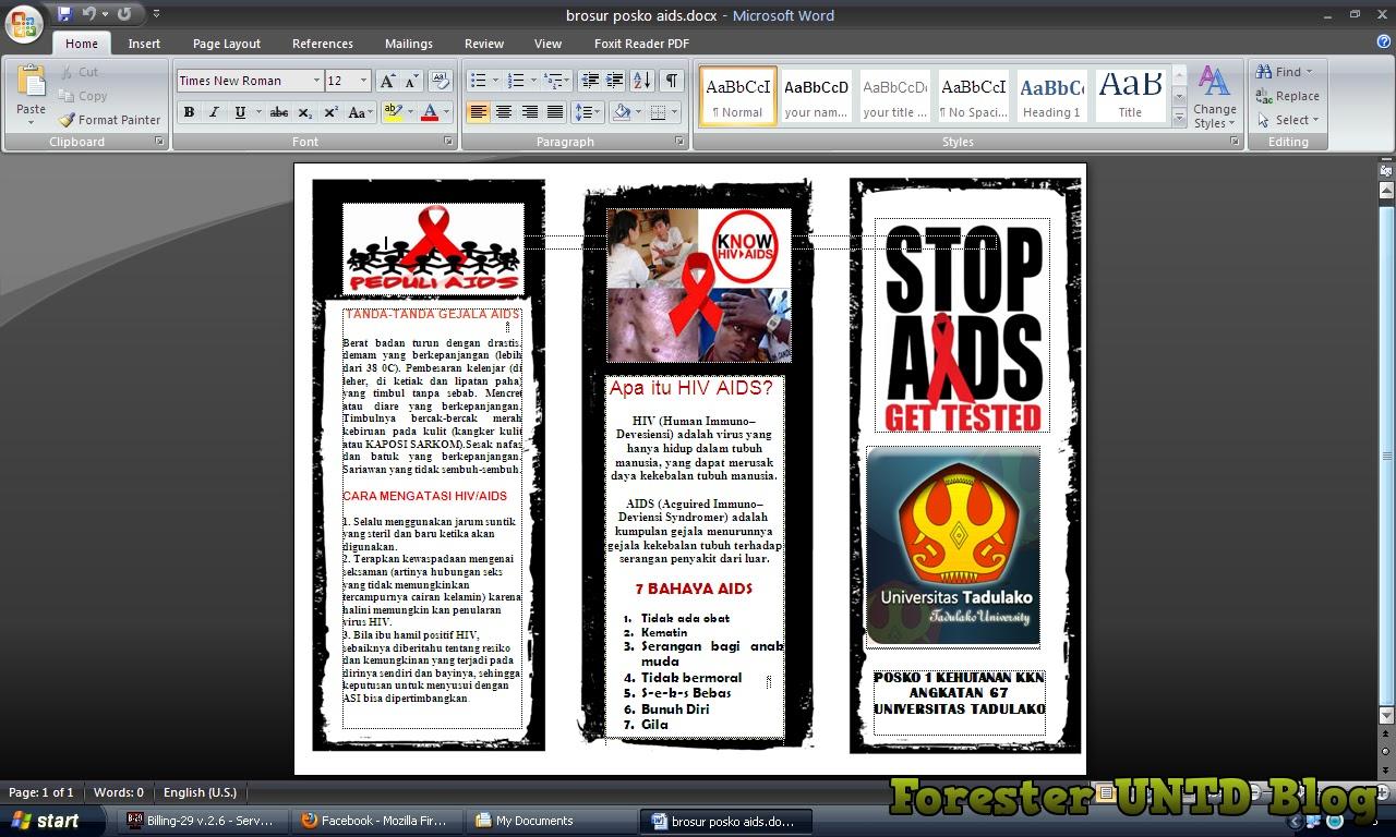 Cara Membuat Brosur Dengan Ms Word Online Forester Untad Blog