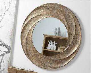 Espejo Espiral Metalico Donao