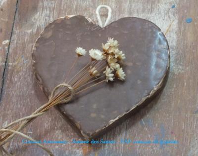Coisicas Artesanais - Simone dos Santos - PAP coração decorativo de papelão
