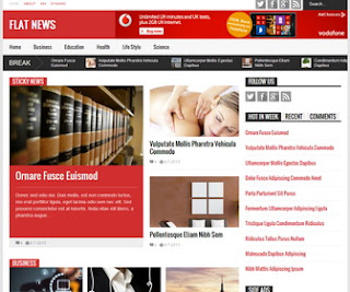 flat news magazine blogger template