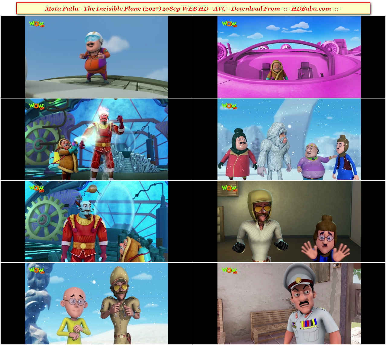 Motu Patlu - The Invisible Plane Full Movie Download