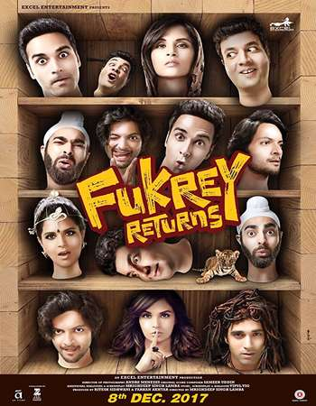 Fukrey Returns 2017 Hindi 200MB Pre-DVDRip HEVC Mobile