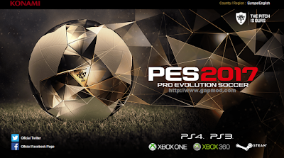Download PES 2017 Android Gold Edition Apk+Data Full Transfer