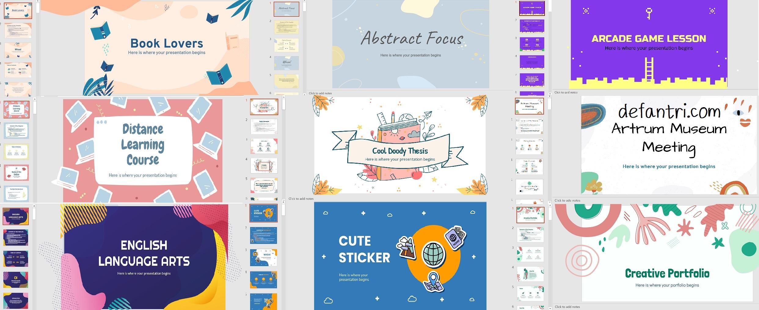 30+ Template Powerpoint Keren Gratis Yang Mudah Untuk Dipakai Siswa atau Guru