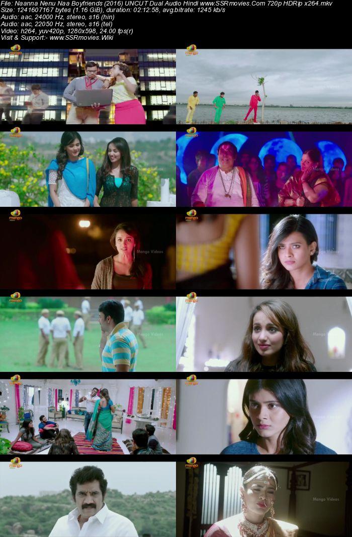 Naanna Nenu Naa Boyfriends (2016) UNCUT Dual Audio Hindi 720p HDRip Movie Download