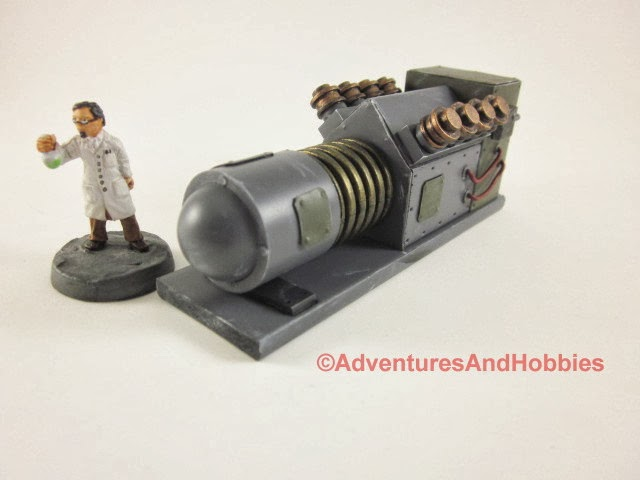 Mad science laboratory power generator - side view 2