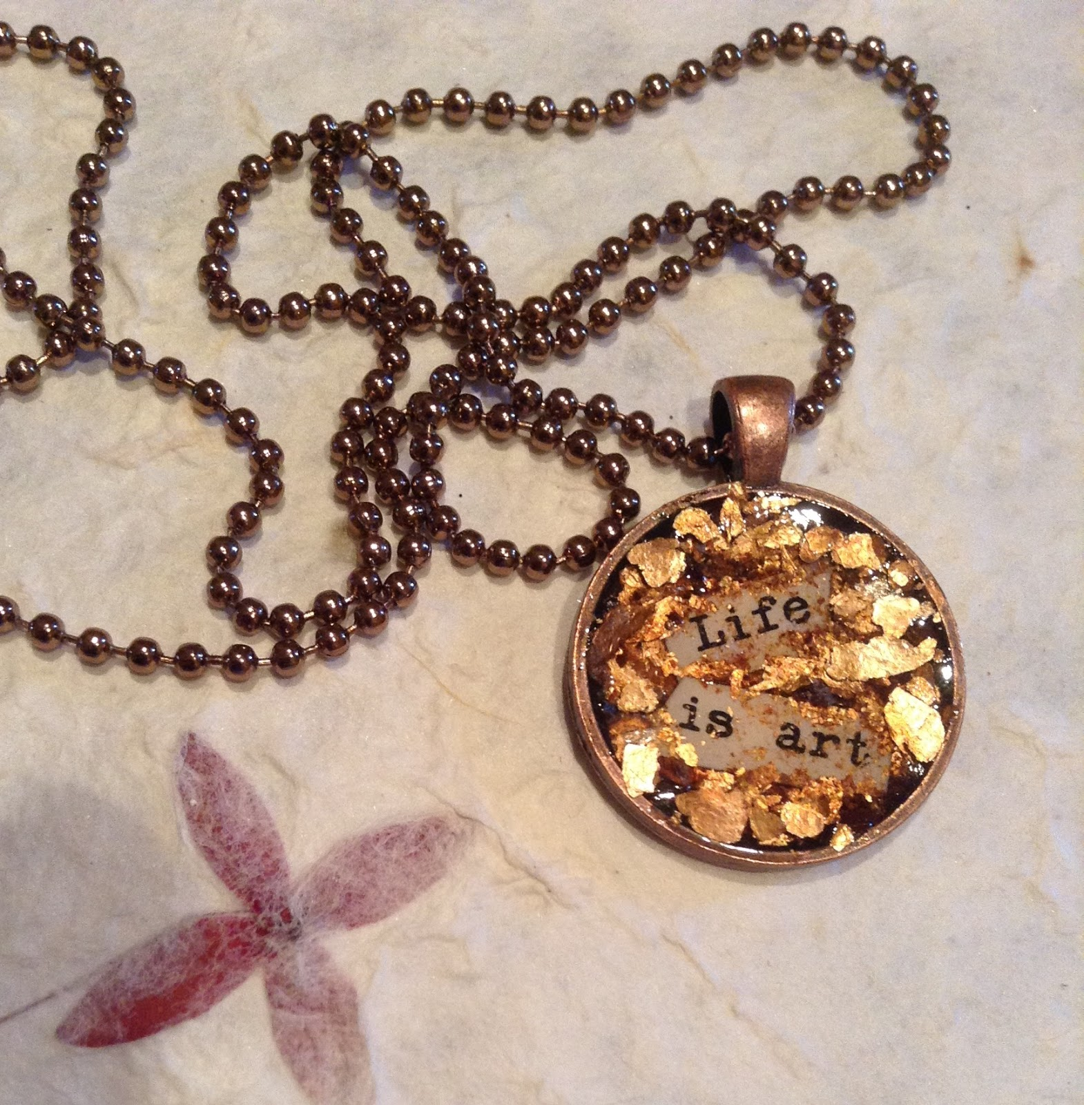 "Willow Run Crafts' Blog: ""Art is Life"" DIY Pendant Tutorial"