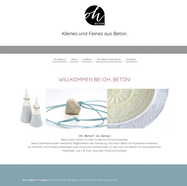 Oh, Beton | die Website