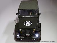 Bolha Jipe Willys Exército - USA Army Jeep 1/10