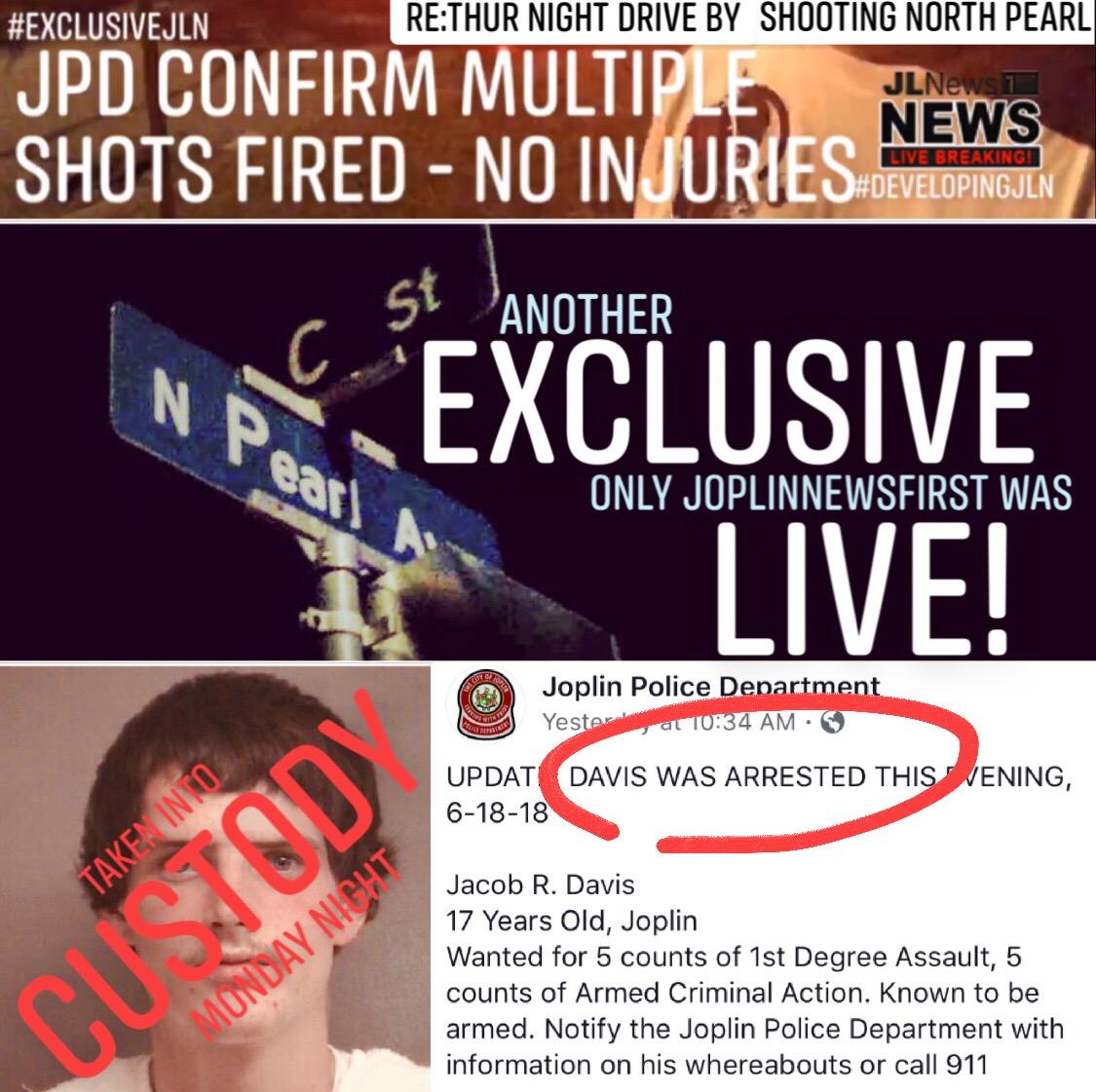 Joplin News First: UPDATE: DRIVE BY SHOOTING ON THUR