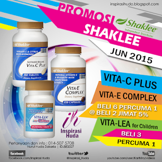 Promosi Vita-C Plus, Vita-E Complex dan Vita-Lea for Children