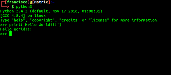 Terminal comando print